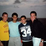 Doug, Andrew, Mosk & LP in the Bahamas